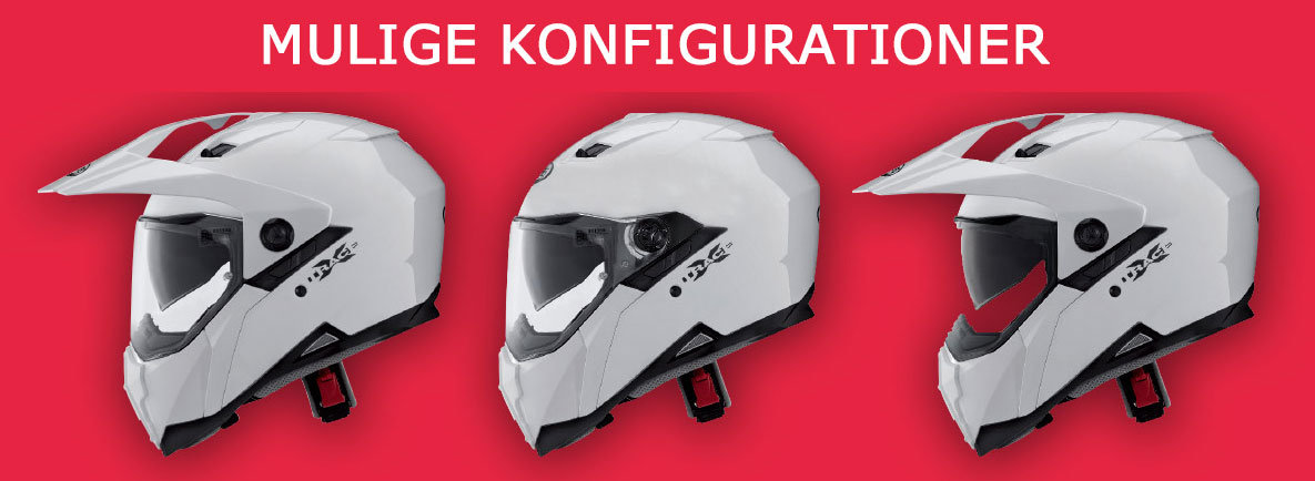 Caberg Xtrace Lux 2 configurations.